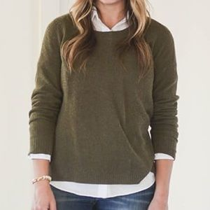 Madewell Knit Olive Crewneck Sweater